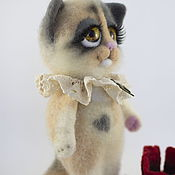 Куклы и игрушки ручной работы. Ярмарка Мастеров - ручная работа Котенок Рябушка. Handmade.