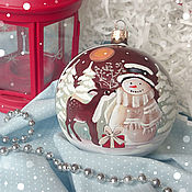 """Подарки к праздникам ручной работы. Ярмарка Мастеров - ручная работа Елочный шар """"Любопытный оленёнок"""". Handmade."""