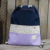 Работы для детей, ручной работы. Ярмарка Мастеров - ручная работа Рюкзак-мешок для сменной обуви в школу. Handmade.