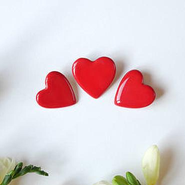 """Украшения ручной работы. Ярмарка Мастеров - ручная работа Брошь """"Сердце"""" красная. Handmade."""