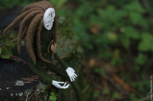 Коллекционные куклы ручной работы. Ярмарка Мастеров - ручная работа. Купить лесной.. Handmade. Лес, зеленый, кукла с дредами, волшебство