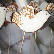 Сувениры и подарки ручной работы. Ярмарка Мастеров - ручная работа Пряничные птицы-жаворонки. Handmade.