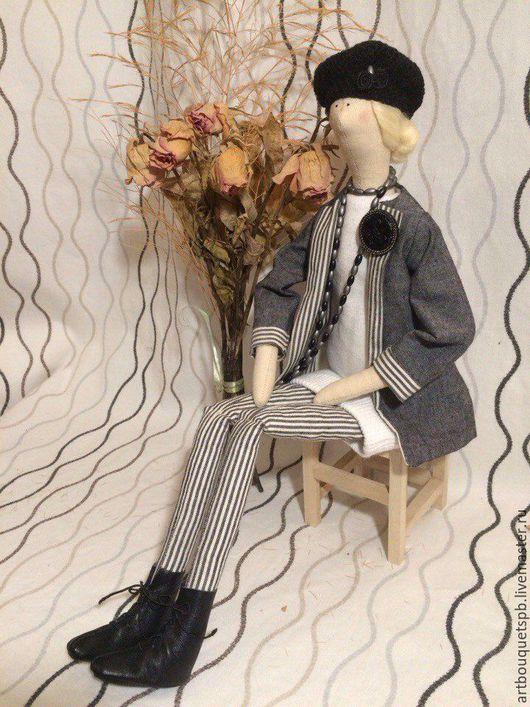 Куклы Тильды ручной работы. Ярмарка Мастеров - ручная работа. Купить Текстильная кукла. Handmade. Серый, кукла текстильная
