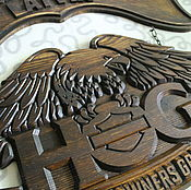 Сувениры и подарки handmade. Livemaster - original item Sign Eagle Harley Davidson. Handmade.