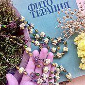 Русский стиль ручной работы. Ярмарка Мастеров - ручная работа Бусы ароматные из целебных крымских трав. Handmade.