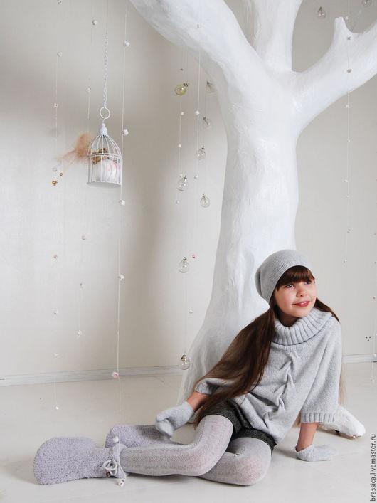 Одежда для девочек, ручной работы. Ярмарка Мастеров - ручная работа. Купить Герда пуловер вязаный для девочки. Handmade. Пуловер, зима 2017