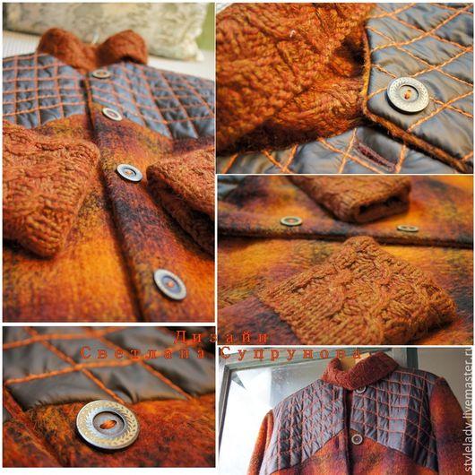 Верхняя одежда ручной работы. Ярмарка Мастеров - ручная работа. Купить Дизайнерское пальто ( дизайнер Светлана Супрунова ). Handmade.