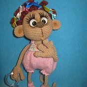 Материалы для творчества ручной работы. Ярмарка Мастеров - ручная работа МК по вязанию обезьянки Манечки. Handmade.