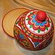 Блинница хлебница деревянная  расписная,дно и внутренняя поверхность крышки не окрашены.\r\n.Посуда декоративная.Кухонная утварь.Кухонный интерьер.
