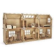 Модульный Кукольный домик 2 этажа 6 комнат (без мебели)
