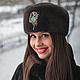 Головной убор из меха голландской норки,крашенной. Формована на фетре. Украшение ручной работы,пристёгивающиеся с натуральными камнями.http://www.livemaster.ru/item/9052451-ukrasheniya-kulon-s-malah