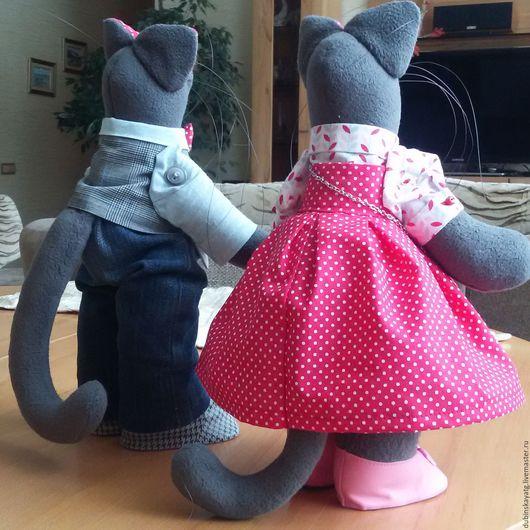 Куклы Тильды ручной работы. Ярмарка Мастеров - ручная работа. Купить Влюбленные коты. Handmade. Серый, коты ручной работы