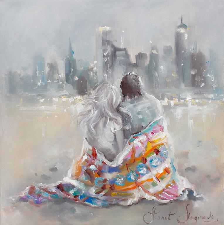 Мужчина и женщина рисунки акварелью