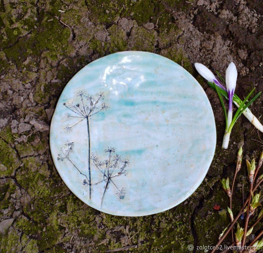 Тарелка Льдинки марта керамика, Тарелки, Нижний Новгород,  Фото №1