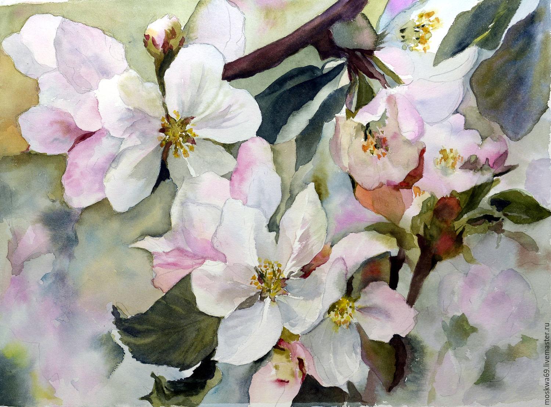 Картина цветение яблони