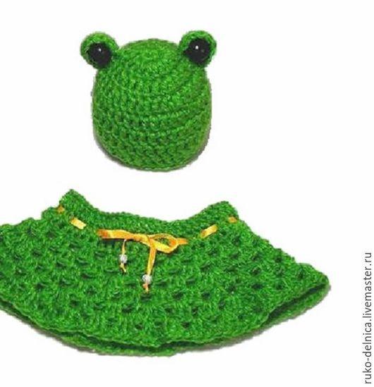 """Для новорожденных, ручной работы. Ярмарка Мастеров - ручная работа. Купить Комплект для фотосессии новорожденных """"Лягушка"""" (фотосессия зеленый). Handmade."""