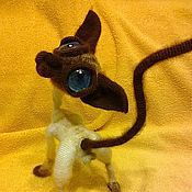 Куклы и игрушки handmade. Livemaster - original item Sphinx bald cat Siamese color. Handmade.