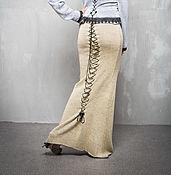 Одежда handmade. Livemaster - original item GA_018 mermaid Skirt-Lite long with lace-up back, color: yellow-silver.. Handmade.
