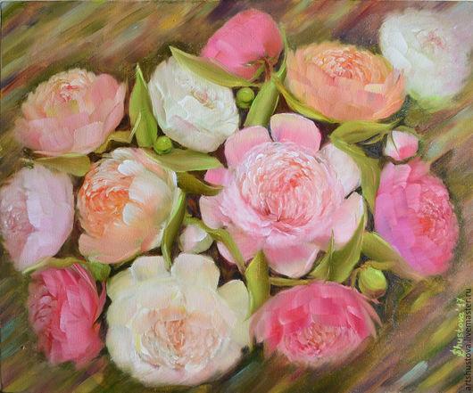 Картина маслом, картина холст.  Живопись цветы. Весенние цветы. Летние цветы. Женщина подарок, день рождение подарок, купить картину, картина художник, оригинальный подарок. картина для интерьера, роз
