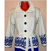 Одежда handmade. Livemaster - original item Cardigan Swan. Handmade.