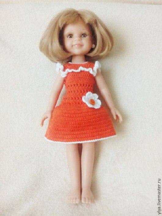 Одежда для кукол ручной работы. Ярмарка Мастеров - ручная работа. Купить Платье Апельсинка для куклы Паола Рейна.. Handmade. Комбинированный