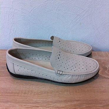 Обувь ручной работы. Ярмарка Мастеров - ручная работа Летние мокасины. Handmade.