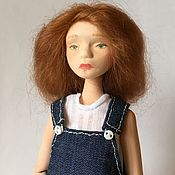 Шарнирная кукла ручной работы. Ярмарка Мастеров - ручная работа Шарнирная кукла Зая (флюмо, bjd). Handmade.