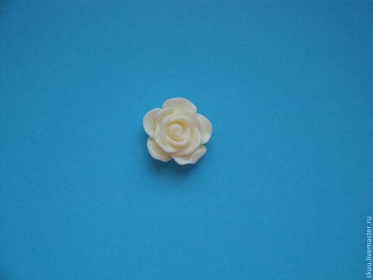 Открытки и скрапбукинг ручной работы. Ярмарка Мастеров - ручная работа. Купить Роза пластиковая 18 мм. Handmade. Молочный