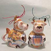 Сувениры и подарки handmade. Livemaster - original item Year of the Bull: hanging Christmas tree toy bull. Handmade.