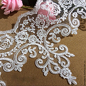 Материалы для творчества handmade. Livemaster - original item Lace trim for wedding dress, wedding veils.. Handmade.