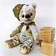 Мишки Тедди ручной работы. Ярмарка Мастеров - ручная работа. Купить Мишка тедди Потому что мы пилоты. Handmade. Оливковый