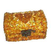 Для дома и интерьера handmade. Livemaster - original item Box the amber box for jewelry. Handmade.