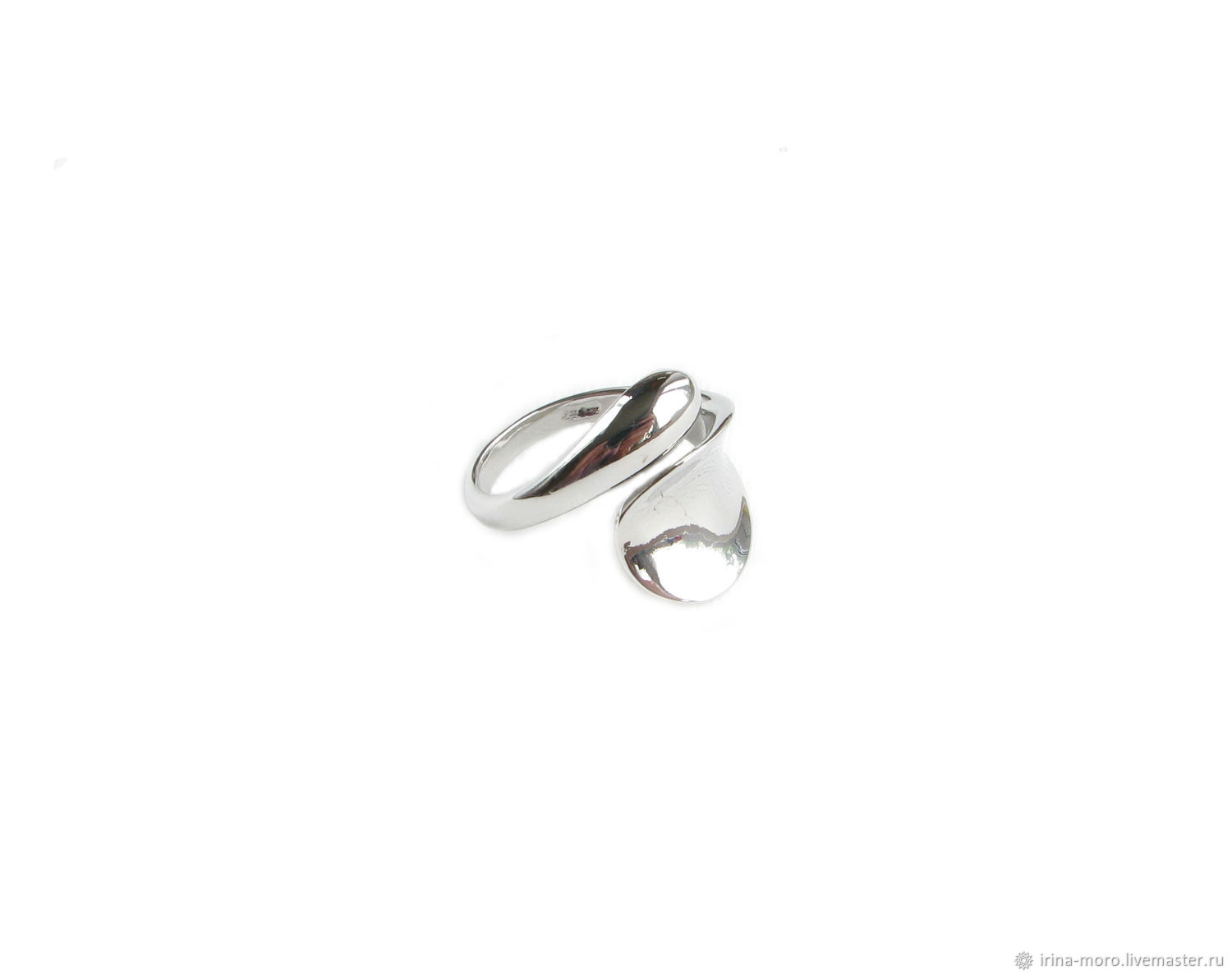 Silver ring without stones, large women's ring gift, Rings, Moscow,  Фото №1
