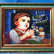 Картины и панно handmade. Livemaster - original item Prayer before going to bed, beading. Handmade.