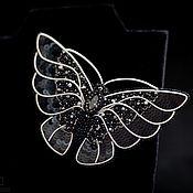 Украшения handmade. Livemaster - original item Black butterfly brooch. Handmade.