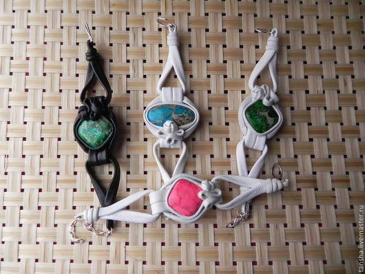 Браслеты ручной работы. Ярмарка Мастеров - ручная работа. Купить браслеты МИНИ. Handmade. Камень в кже, подарок на любой случай