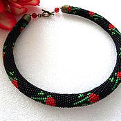 Украшения handmade. Livemaster - original item Harness necklace beaded Lyubava Japanese seed beads. Handmade.