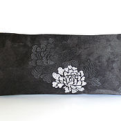 Сумки и аксессуары handmade. Livemaster - original item Grey suede clutch bag. Handmade.