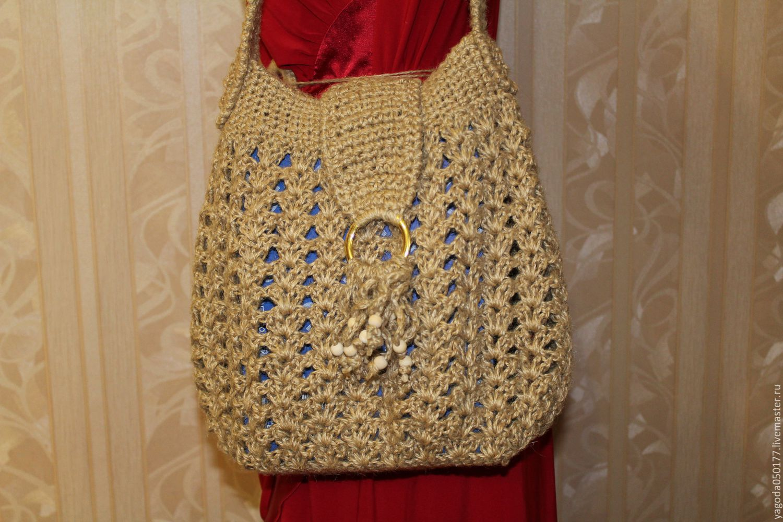 Bags & Accessories handmade. Livemaster - handmade. Buy Bag knitted shoulder jute.Handmade, manual work of authorship