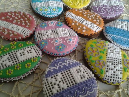 Кулинарные сувениры ручной работы. Ярмарка Мастеров - ручная работа. Купить набор пряников Разноцветная Пасха. Handmade. Разноцветный