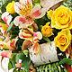 Букет цветов с желтыми розами