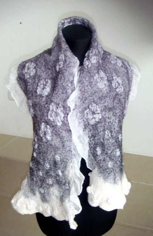 Scarves handmade. Livemaster - handmade. Buy Scarf 'Night violet'.Handmade, lilac, wool