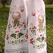 Рушники ручной работы. Ярмарка Мастеров - ручная работа Свадебный рушник с золотыми павлинами. Handmade.