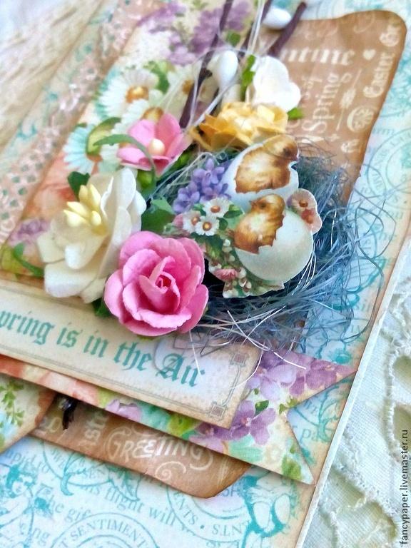 Авторская открытка ручной работы минск, сердечками марта