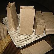 Материалы для творчества ручной работы. Ярмарка Мастеров - ручная работа Крафт пакет малый 17х8х5см. Handmade.