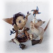 Куклы и игрушки ручной работы. Ярмарка Мастеров - ручная работа Крошка Энн и кошка Мэри. Handmade.