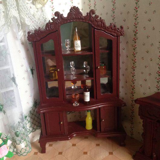 """Куклы и игрушки ручной работы. Ярмарка Мастеров - ручная работа. Купить Кукольная мебель """"Сервант"""" масштаб 1:12. Handmade."""