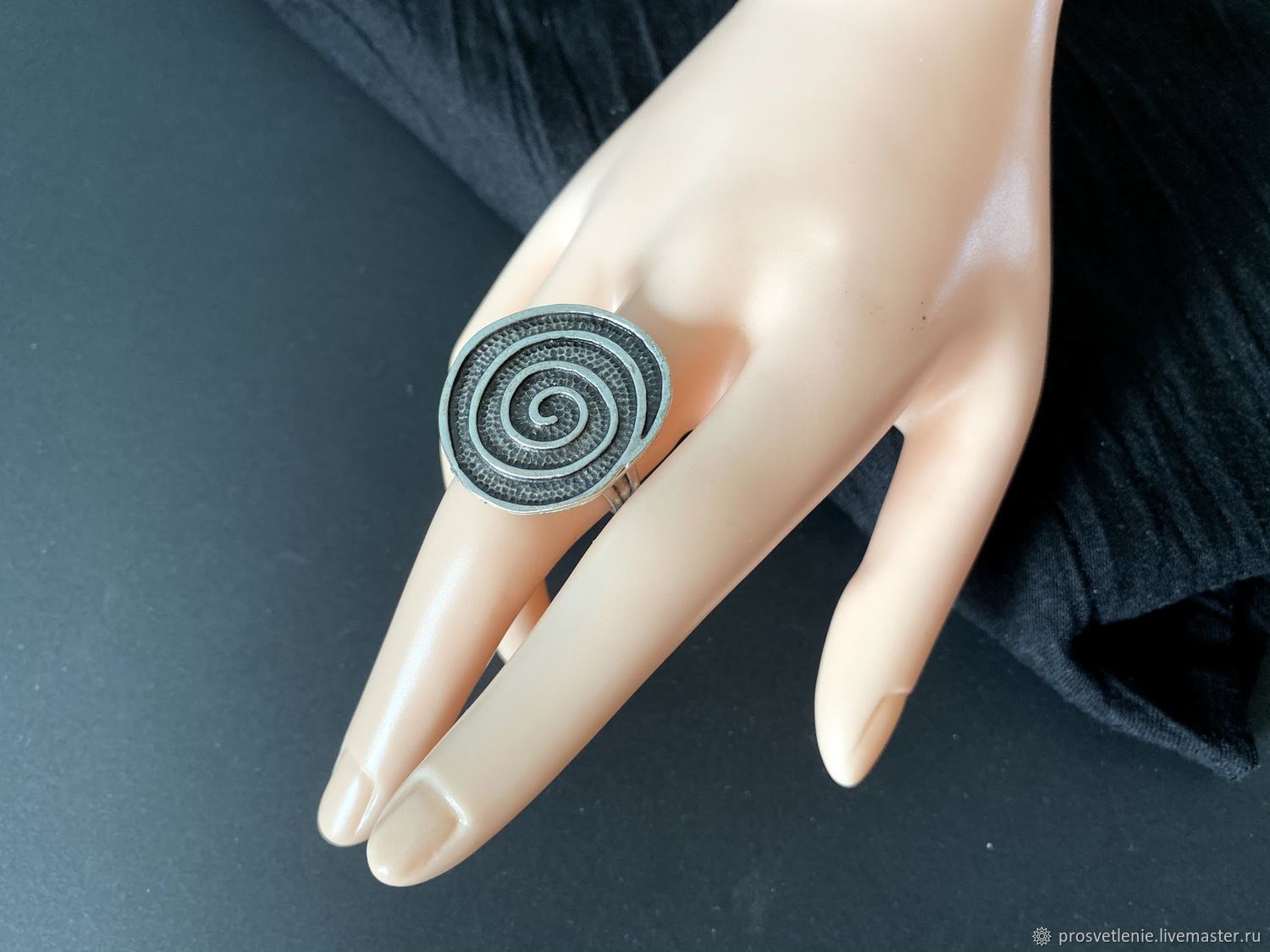 Stylish ring made of silver metal boho ethno, Rings, Voronezh,  Фото №1