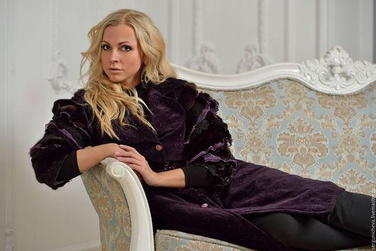 """Верхняя одежда ручной работы. Ярмарка Мастеров - ручная работа. Купить Пальто""""Night Orchid"""". Handmade. Тёмно-фиолетовый, гламурный, женственное"""