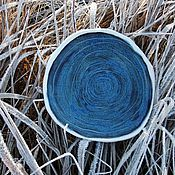 """Посуда ручной работы. Ярмарка Мастеров - ручная работа Тарелочка """"Спираль"""". Handmade."""